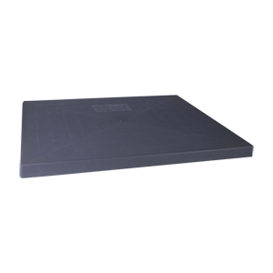 """American Standard Heating & Air Conditioning 34"""" x 34"""" x 2"""" Gray Plastic Condenser Pad 1699594"""