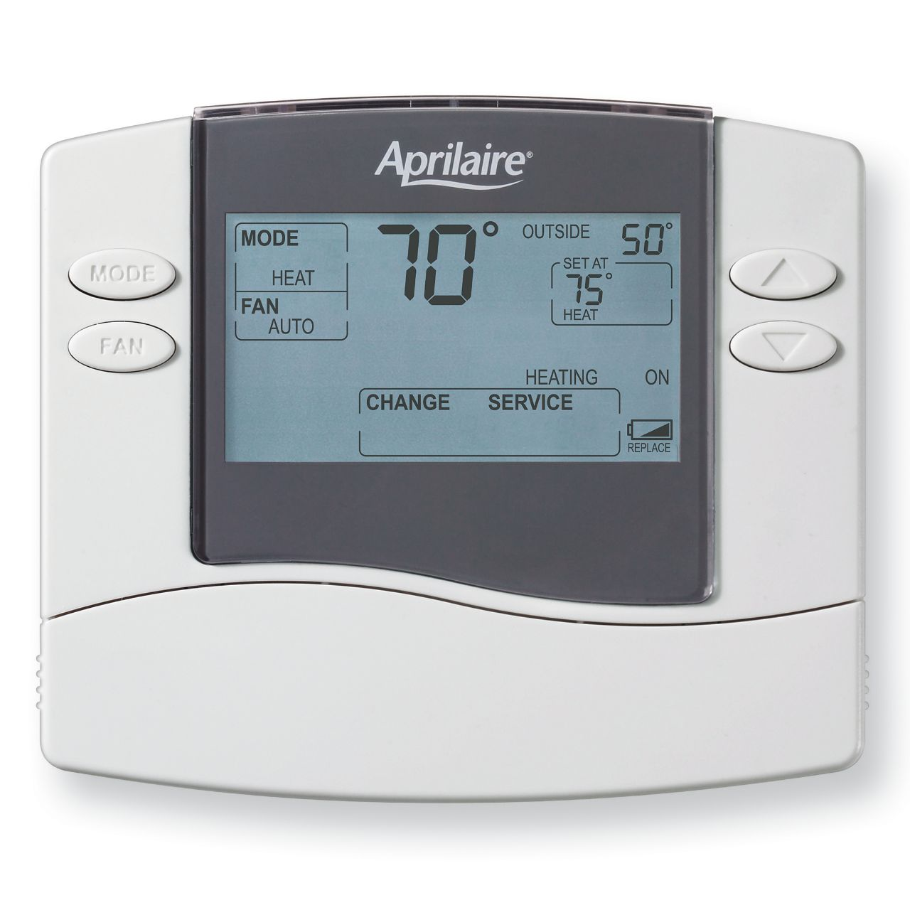 Aprilaire Aprilaire Non-programmable Universal, Multi-stage 2H/2C or 4H/2C Heat Pump Thermostat 2172797
