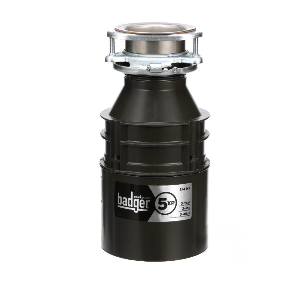 Insinkerator Badger 5XP Garbage Disposal, 3/4 HP
