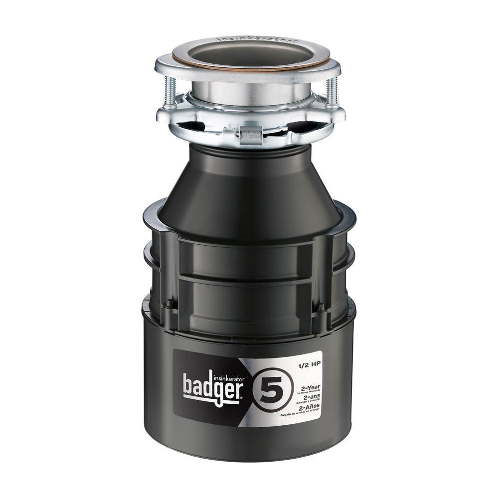 Insinkerator Badger 5 Garbage Disposal, 1/2 HP