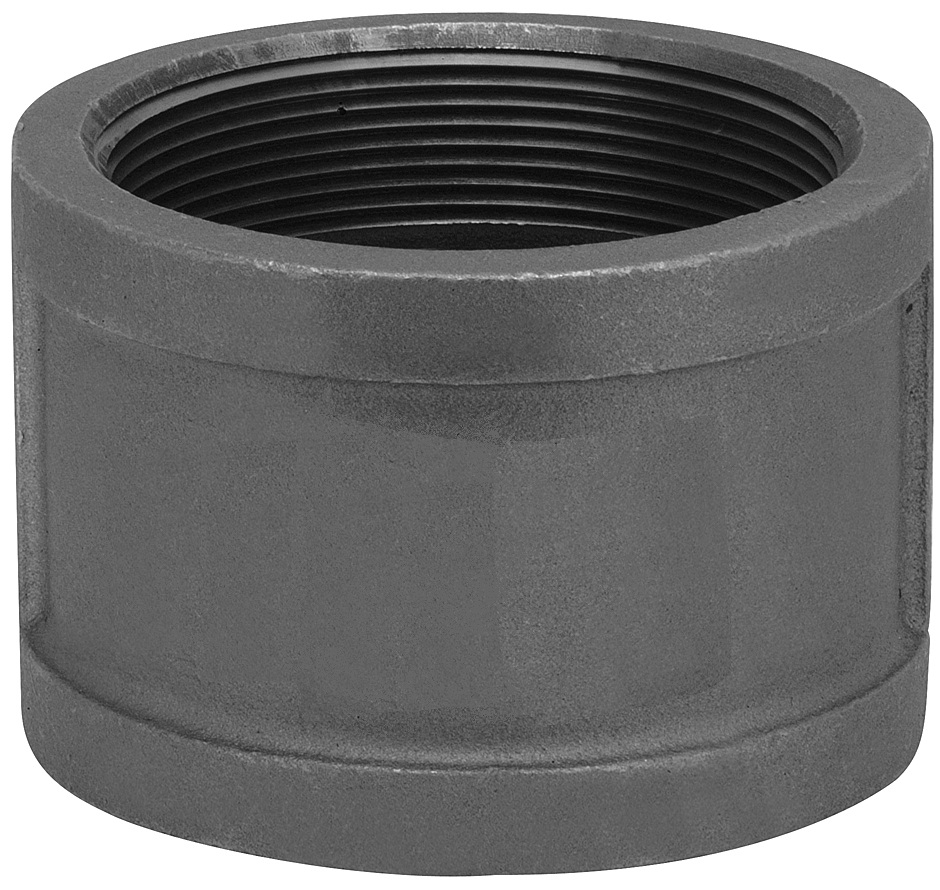 "1 ¼"" Black Malleable Coupling"