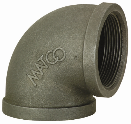 "2"" Black 90 Elbow, Malleable"