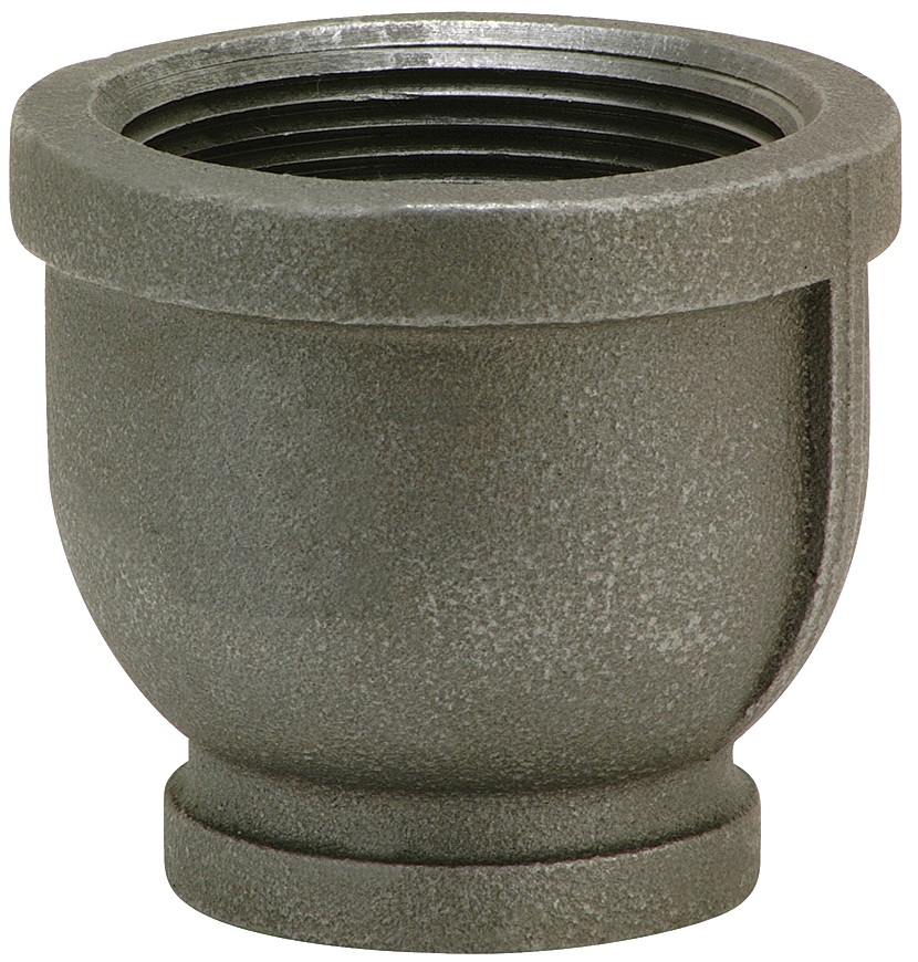 "1"" x ½"" Black Malleable Reducing Coupling"