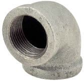 "1"" Galvanized 90 Elbow, Malleable"
