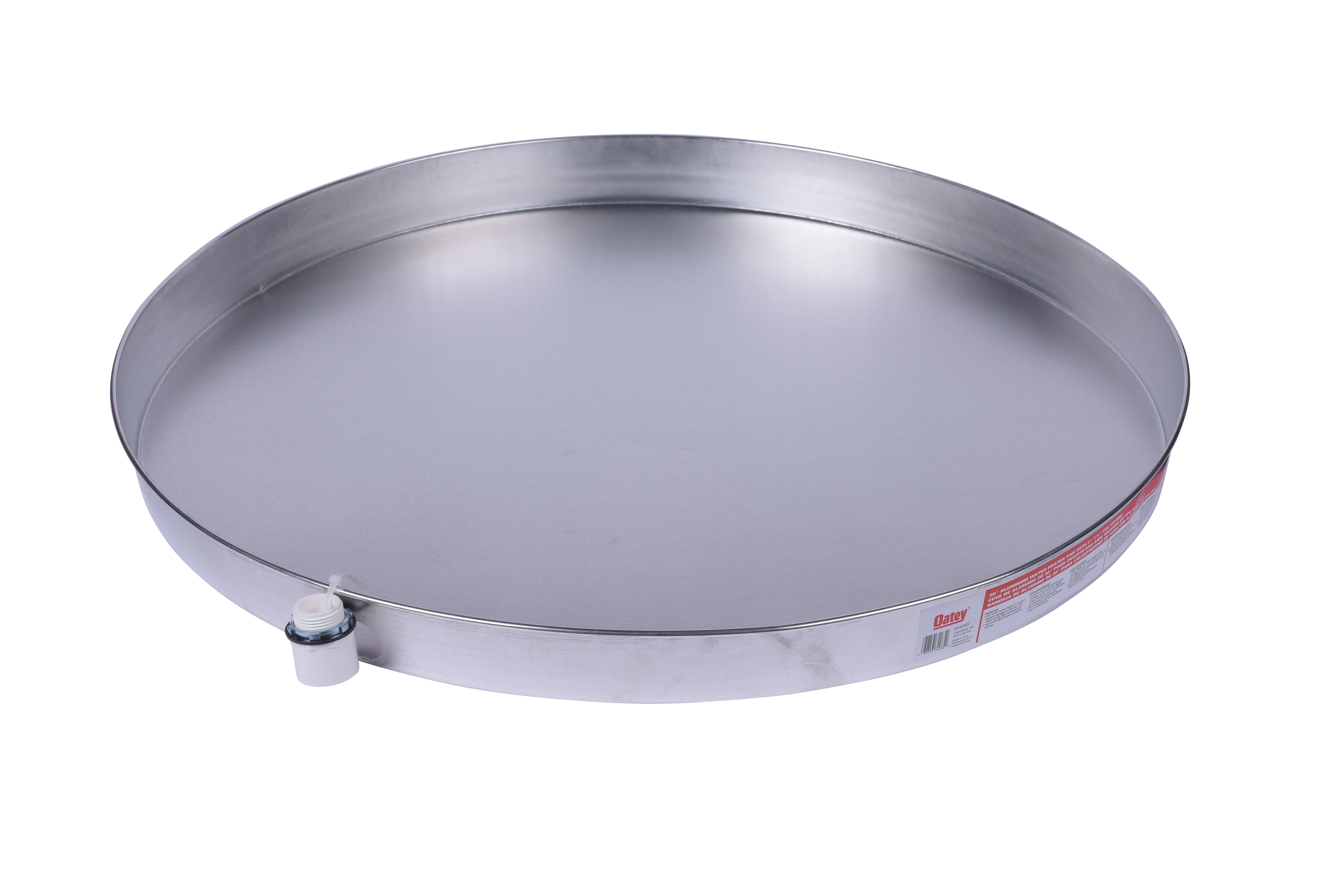 Oatey 30 In. Aluminun Water Heater Pan With 1 In. Adapter 454098