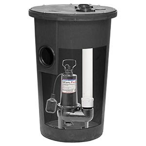 1/2 HP, 3yr Warranty, Cast Iron Simplex Sewage Kit - Vertical Float