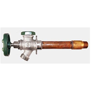 "Wall Hydrant1/2"" X 3/4"", MPT/Soldered X MHT, 8"" Rough-In, 125 PSI, Lead-Free, Bronze Alloy Body, Rubber Coated Oval Wheel Handle , Frostproof, Heavy Duty"