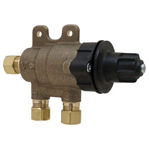 """Chicago Faucets 3/8"""" Brass Thermostatic Mixing Valve 1572055"""