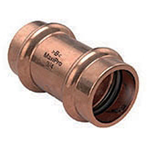 "⅜"" Press Copper Press Straight Coupling"