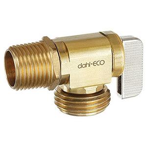 """Dahl 1/2"""" Brass Boiler Angle Drain Valve 1490642"""