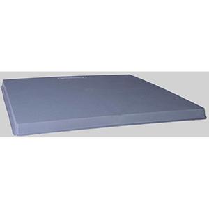 "Diversitech  24"" x 24"" x 2"" Gray Plastic Condenser Pad 44700"
