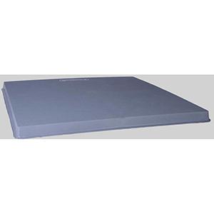 "Diversitech  36"" x 36"" x 3"" Gray Plastic Condenser Pad 44884"