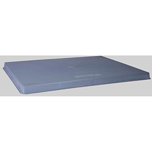 "Diversitech  38"" x 36"" x 2"" Gray Plastic Condenser Pad 52724"