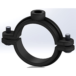 """Empire Industries ½"""" 180 lb. Load Copper Epoxy Coated Malleable Iron Split Ring Extension Hanger 4150"""