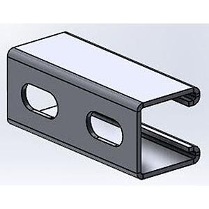 "Empire Industries 1⅝"" x 1⅝"" x 10' 12 Gauge Zinc Plated Steel 1 channel Slotted Single Domestic Strut Channel 900705"