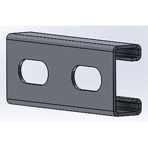 "Empire Industries 1⅝"" x 13/16"" x 10' 14 Gauge Zinc Plated Steel 1 channel Slotted Single Domestic Strut Channel 1736977"