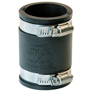 """1 ½"""" Cast Iron and Plastic Flexible Coupling"""