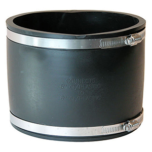 """6"""" Cast Iron and Plastic Flexible Coupling"""