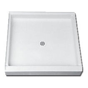 "60"" X 34"" X 4-3/4"", White, Recessed, 1-piece, Single Threshold, Rectangle, Shower Receptor"