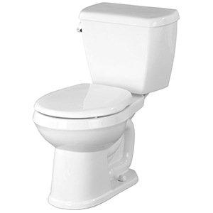 "15-1/2"" H, 12"" Rough-in, 1.6 GPF, White, Vitreous China, Floor Mount, Round Front, Bowl For Avalanche Toilet"