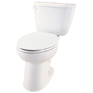 "26-7/8"" X 18-3/8"" X 29-7/8"", 12"" Rough-in, 16-3/8"" Bowl Height, 1.28 GPF, Color Matched Metal Tank Lever, White, Vitreous China, Floor Mount, 2-piece, Elongated Bowl, Toilet"