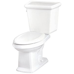 """15-1/4"""" H, 12"""" Rough-in, 1.28 GPF, White, Vitreous China, Floor Mount, Elongated, Bowl For Logan Square High Efficiency Toilet"""