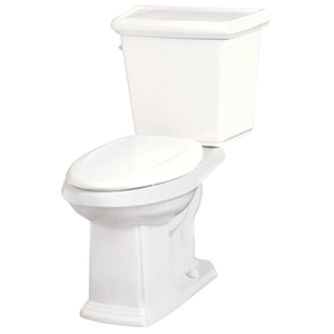 """18-3/4"""" X 9-1/8"""", 12"""" Rough-in, 1.28 GPF, White, Vitreous China, Color Matched Side Tank Flush Tank Lever, Toilet Tank"""