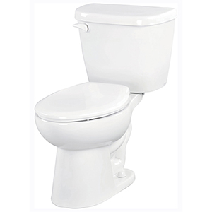 "28-7/8"" X 17-1/2"" X 28"", 12"" Rough-in, 14-7/8"" Bowl Height, 1.6 GPF, Color Matched Metal Tank Lever, White, Vitreous China, Floor Mount, 2-piece, Elongated Bowl, Toilet"