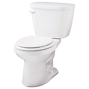 "28-1/8"" X 16-3/8"" X 28-3/4"", 12"" Rough-in, 15"" Bowl Height, 1.6 GPF, Color Matched Metal Tank Lever, White, Vitreous China, Floor Mount, 2-piece, Round Front Bowl, Toilet"