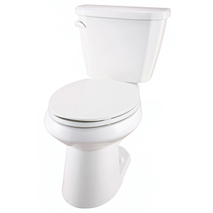 "29-7/8"" X 16-3/8"" X 29"", 12"" Rough-in, 15-1/4"" Bowl Height, 1.6 GPF, Color Matched Metal Tank Lever, White, Vitreous China, Floor Mount, 2-piece, Elongated Bowl, Toilet"