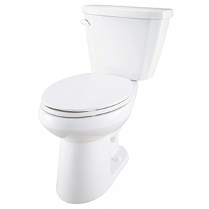 "30-3/8"" X 16-3/8"" X 30-3/4"", 12"" Rough-in, 16-7/8"" Bowl Height, 1.6 GPF, Color Matched Metal Tank Lever, White, Vitreous China, Floor Mount, 2-piece, Elongated Bowl, Toilet"
