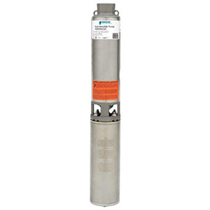"1-1/4"" NPT Discharge, 230 VAC 60 Hz 1-phase, 1/2 HP, 3450 RPM, 10 GPM , Aisi 304 Stainless Steel Case, 2-wire, 10-stage, Submersible Pump"