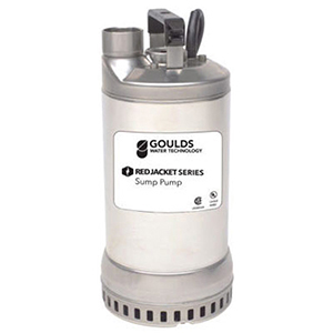 "1-1/2"" NPT Discharge, 230 VAC 60 Hz 1-phase, 1/2 HP, 3450 RPM, 72 GPM, Aisi 304 Stainless Steel Case, Submersible Dewatering Pump"