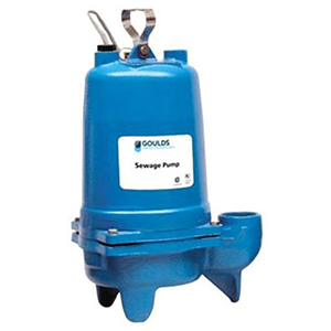 "2"" NPT Discharge, 200 VAC 60 Hz 3-phase, 3.8 A, 0.5 HP, 1750 RPM, 160 GPM , 20' Cord, Gray Cast Iron Case, Submersible, Sewage Pump"