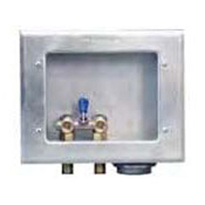 """Guy Gray ½"""" MPT/Soldered Domestic Valve G90 Hot Dip Galvanized 20 Gauge Steel Unassembled Right Drain Washing Machine Outlet Box 1541212"""