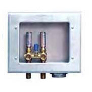 """Guy Gray ½"""" MPT/Soldered 1 lever Valve G90 Hot Dip Galvanized 20 Gauge Steel Unassembled Right Drain Washing Machine Outlet Box with Integral Hammer Arrester 1657265"""
