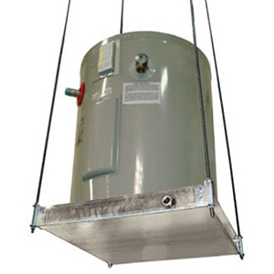 """Holdrite 21 1/4"""" x 21 1/4"""" x 2 1/2"""" 375lb Ceiling Mount Water Heater Stand 1899472"""