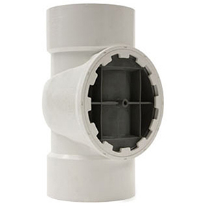 "Testrite® 2"" Straight and DWV Spanner Ring Plug PVC and Nylon Tee"