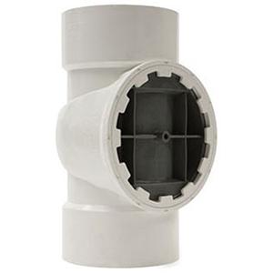 "Testrite® 4"" Straight and DWV Spanner Ring Plug PVC and Nylon Tee"