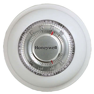 Honeywell Round Non-Programmable, 1H/1C, Mechanical Thermostat 824507