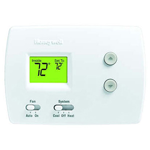 Honeywell Pro Non-Programmable, 1H/1C, Standard Display Thermostat 1441279