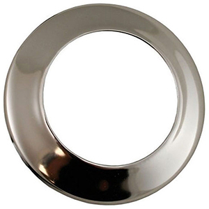 "3/8"" IPS, 1-hole, Chrome Plated, Steel, Low Pattern, Sure Grip, Escutcheon"