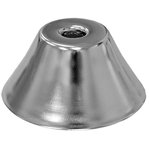 "3/8"" IPS, 1-hole, Chrome Plated Steel, Iron, Deep Bell, Sure Grip, Escutcheon"
