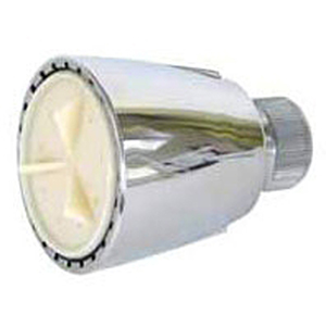 2.5 GPM , White, Brass, Adjustable, Universal Fit, Showerhead