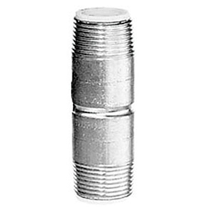 "1½"" x 4"" MPT Nonshock 10 PSI WSP Schedule 40 Galvanized Welded Carbon Steel Dielectric Long Pattern Nipple"