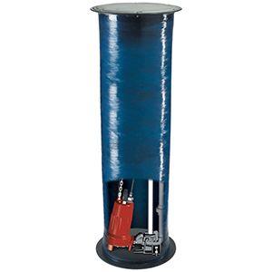 "4"" Suction, 1-1/4"" Discharge, Hub X NPT, 208 To 230 VAC 60 Hz 1-phase, 15 A, 2 HP, 3450 RPM, 39 GPM , Fiberglass Cover, Simplex, Automatic, 2-stage, Pre-assembled, Heavy Duty, Wide Angle Tilt Float, Grinder Package System"