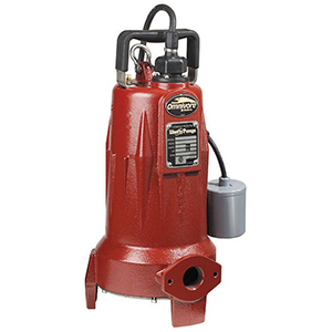 "1-1/4"" Discharge, Hub X FPT, 208 To 230 VAC 60 Hz 1-phase, 15 A, 2 HP, 3450 RPM, 50 GPM , Powder Coated, Class 25 Cast Iron, Submersible, Automatic, 1-stage, Wide Angle Float, 1-piece, Grinder Pump"