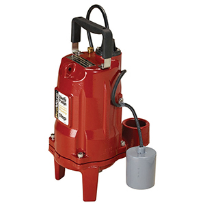 "2"" Discharge, Fpt Outlet, 115 VAC 60 Hz 1-phase, 12 A, 1 HP, 3450 RPM, 28 GPM, Powder Coated, Class 30 Cast Iron, Submersible, Automatic, 1-stage, Wide Angle Float, Grinder Pump"