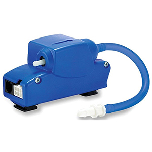 """1/4"""" Discharge, 110 To 240 VAC 50/60 Hz, 0.18 A, 18 KW, 26 PSI, 2.7 GPH, 2-piece, Condensate Removal Pump"""