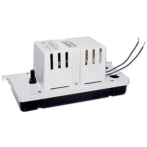 """1-1/8"""" Inlet, 3/8"""" Barbed Outlet, 115 VAC 60 Hz, 1.5 A, 1/30 HP, 8.6 PSI, 80 GPH, Automatic, Low Profile, Vertical Centrifugal, Condensate Removal Pump"""